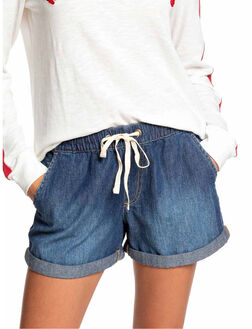 DARK INDIGO WOMENS CLOTHING ROXY SHORTS - ERJDS03209-BYJ0