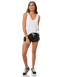 BLACK WOMENS CLOTHING RIP CURL SHORTS - GBODN10090