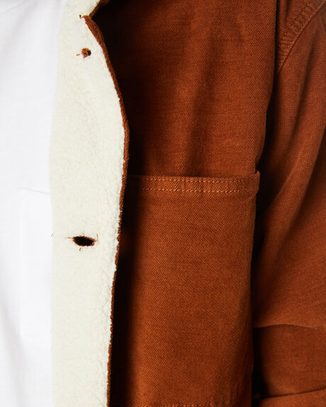 MUSTANG BROWN MENS CLOTHING THRILLS JACKETS - TW20-230CMUST