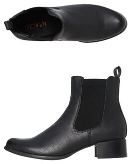 BLACK WOMENS FOOTWEAR THERAPY BOOTS - SOLE-1214BLK