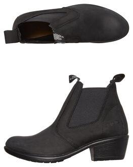 BLACK BUFF WOMENS FOOTWEAR ROC BOOTS AUSTRALIA BOOTS - SIERRABLKB