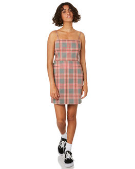 VENICE CHECK WOMENS CLOTHING THRILLS DRESSES - WTS8-911HZVEN