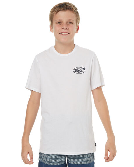 WHITE KIDS BOYS SWELL TEES - S3171008WHITE