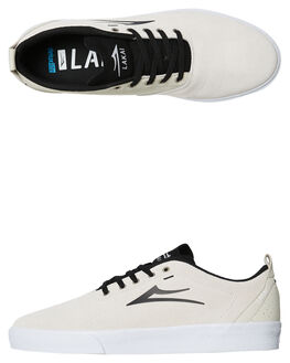 BLACK WHITE MENS FOOTWEAR LAKAI SKATE SHOES - MS4180249ABKWTS