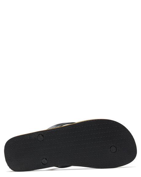 BLACK MENS FOOTWEAR CARVE THONGS - CVS1518BLK