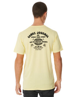 VINTAGE YELLOW MENS CLOTHING BANKS TEES - WTS0255VYL