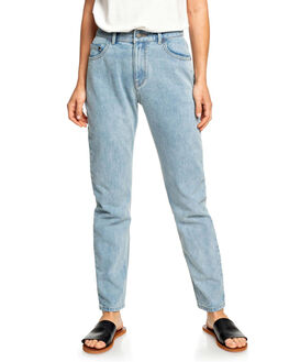 RETRO LIGHT BLUE WOMENS CLOTHING ROXY JEANS - ERJDP03214-BDV0