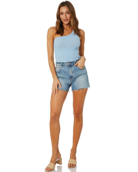 CAPRI BLUE OUTLET WOMENS NUDE LUCY SINGLETS - NU24121CPBLU