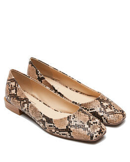 TAUPE SNAKE WOMENS FOOTWEAR THERAPY HEELS - 10543TSNK