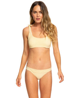OCHRE STRIPES WOMENS SWIMWEAR ROXY BIKINI TOPS - ERJX303826YHV7