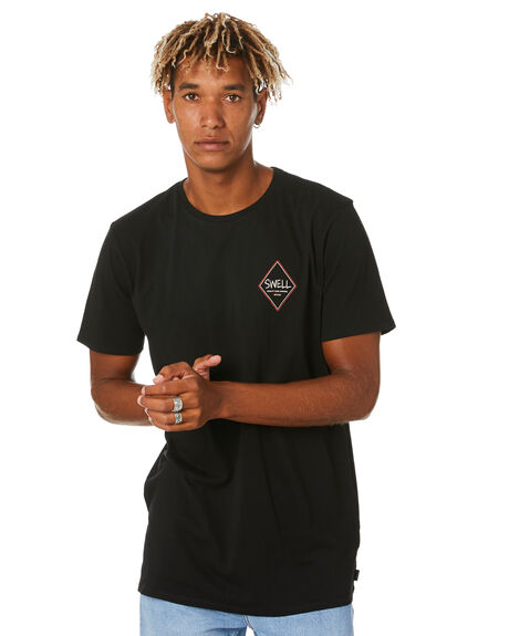 BLACK MENS CLOTHING SWELL TEES - S5204003BLACK