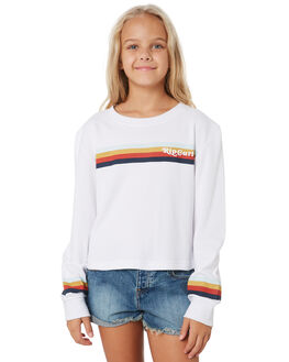 WHITE KIDS GIRLS RIP CURL TOPS - JTEEF11000