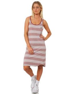 BORDEAUX WOMENS CLOTHING RVCA DRESSES - R282765BORD