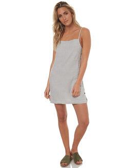 BLACK WHITE WOMENS CLOTHING RVCA DRESSES - R272759ABKW