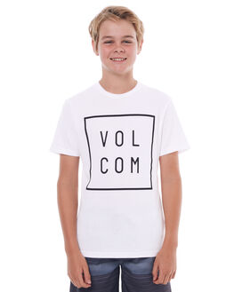 WHITE KIDS BOYS VOLCOM TEES - C5031779WHT