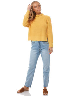 YELLOW WOMENS CLOTHING ALL ABOUT EVE KNITS + CARDIGANS - 6495608YLW