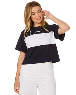NAVY WOMENS CLOTHING HUFFER TEES - WTE84S7330NVY