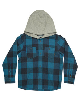 REAL TEAL MOTHERFLY KIDS TODDLER BOYS QUIKSILVER SHIRTS - EQKWT03133BPR1
