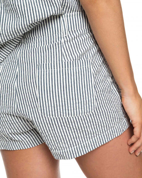 BLUE STRIPE WOMENS CLOTHING ROXY SHORTS - ERJNS03182BTK4