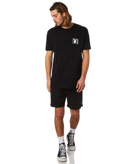 BLACK MENS CLOTHING GOOD WORTH TEES - TPG1821BLK