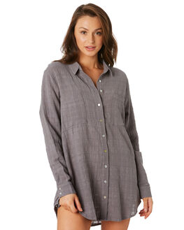 NAVAL GREY WOMENS CLOTHING RUSTY FASHION TOPS - SCL0315NVG