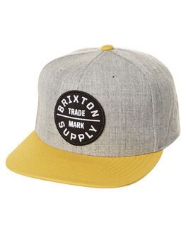 HEATHER GREY GOLD MENS ACCESSORIES BRIXTON HEADWEAR - 00173HTGG