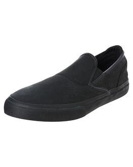 BLACK MENS FOOTWEAR EMERICA SLIP ONS - 6101000111003