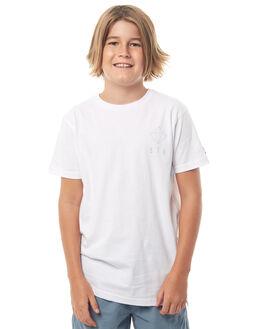 WHITE KIDS BOYS ST GOLIATH TEES - 2413000WHT