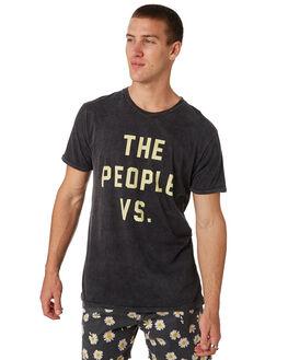 BLACK ACID LEMON MENS CLOTHING THE PEOPLE VS TEES - HS18005BLKAC