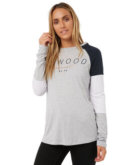 GREY MARLE WOMENS CLOTHING ELWOOD TEES - W73115GREY