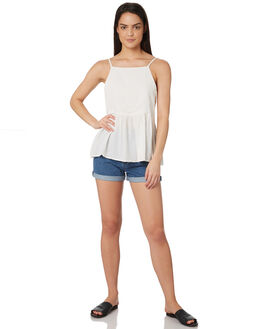WHITE WOMENS CLOTHING ALL ABOUT EVE FASHION TOPS - 6424037WHT