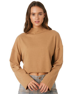 CAMEL WOMENS CLOTHING TWIIN KNITS + CARDIGANS - IE19S1006CAMEL