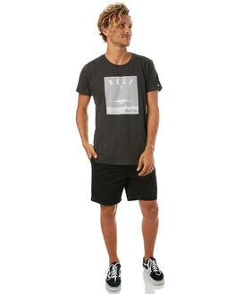 VINTAGE BLACK MENS CLOTHING REEF TEES - TSH705BLK