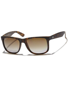 HAVANA RUBBER POLAR UNISEX ADULTS RAY-BAN SUNGLASSES - 0RB416555865T5