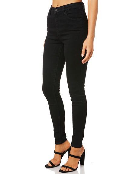 BLACK WOMENS CLOTHING SWELL JEANS - S8203193BLACK