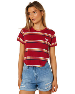 80S RED WOMENS CLOTHING LEE TEES - L-651541-GR9