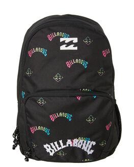 BLACK KIDS BOYS BILLABONG BAGS + BACKPACKS - 7607001ABLK