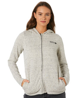 HEATHER GREY WOMENS CLOTHING HURLEY JUMPERS - AGFLSRMG05A