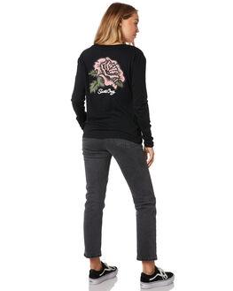 BLACK WOMENS CLOTHING SANTA CRUZ TEES - SC-WLB9871BLK