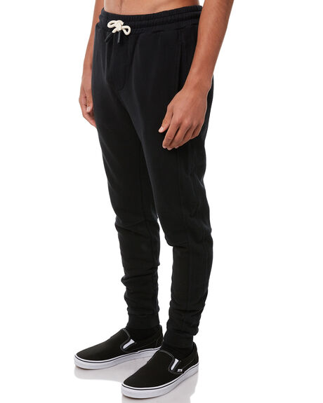 BLACK MENS CLOTHING ACADEMY BRAND PANTS - 18W114BLK