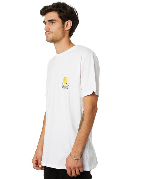 WHITE MENS CLOTHING VANS TEES - VN0A4ROSWHTWHT