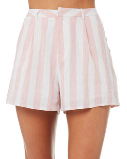 PINK STRIPE WOMENS CLOTHING TEE INK SHORTS - VAW4008PNK