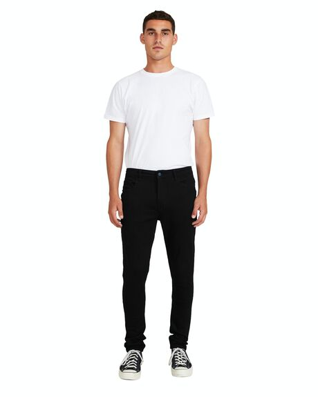 BLACK MENS CLOTHING INSIGHT JEANS - 23743600051
