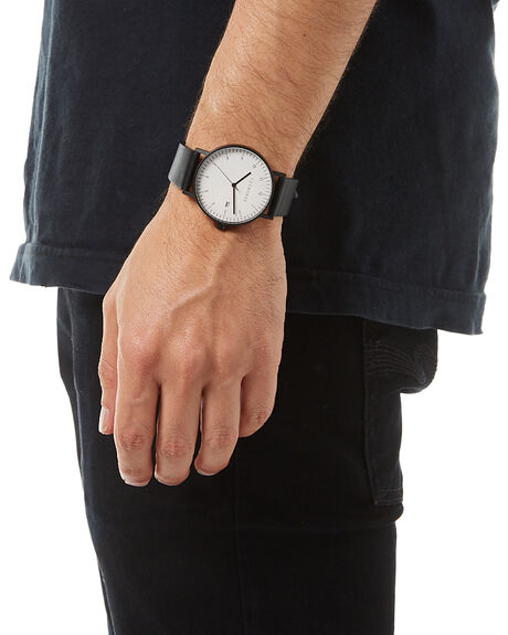 BLACK WHITE BLACK MENS ACCESSORIES THE HORSE WATCHES - STO123-D3BKWHT