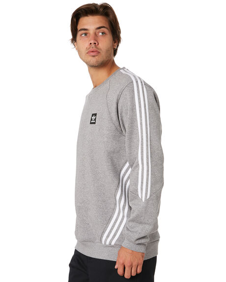 CORE HEATHER WHITE MENS CLOTHING ADIDAS JUMPERS - DU8377CHW