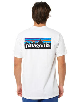 WHITE MENS CLOTHING PATAGONIA TEES - 39174WHI