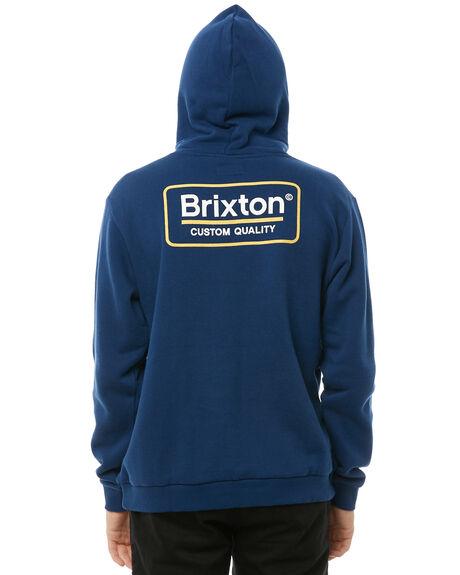 DEEP BLUE MENS CLOTHING BRIXTON JUMPERS - 02464DPBLU