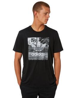 BLACK MENS CLOTHING ADIDAS ORIGINALS TEES - CF3099BLK