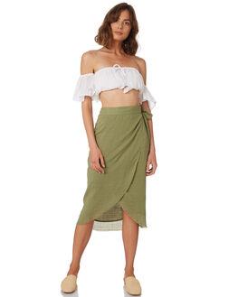 KHAKI WOMENS CLOTHING RUE STIIC SKIRTS - WS18-40-K-CSKHA