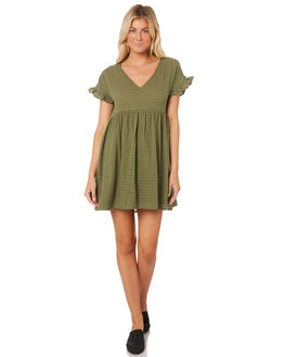 TURTLE WOMENS CLOTHING SASS DRESSES - 13183DWSSGREEN